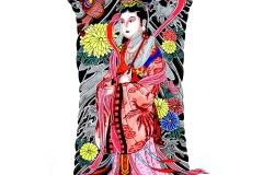 Japanese backpiece drawing